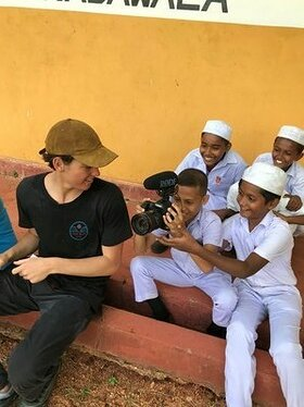 Paris Brosnan and kids in Sri Lanka for Clarins X FEED and World Food Program