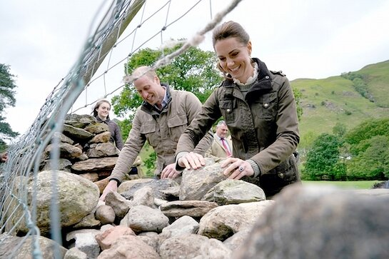 The Duke and Duchess of Cambridge in Cumbria