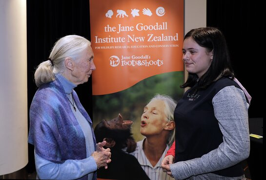 Jane chats with JGINZ Youth Reporter, Taleah Rochelle