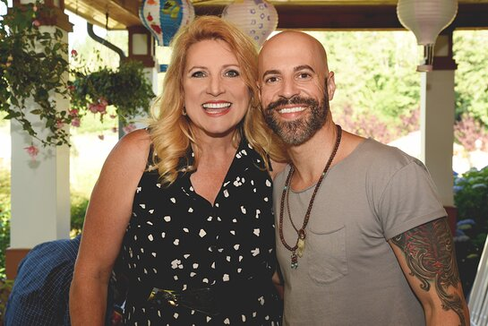 Delilah and Chris Daughtry at the fifth-annual Farm to Feast fundraiser for Point Hope