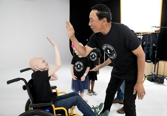 Smokey Robinson during his special visit to record a singalong at St. Jude Children's Research Hospital