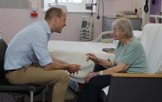 Prince William Visits The Royal Marsden