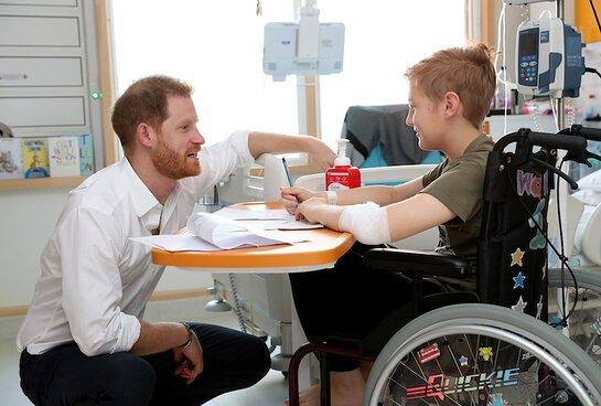 Prince Harry Visits Sheffield Children's Hospital