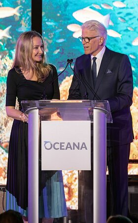 Alexandra Cousteau and Ted Danson