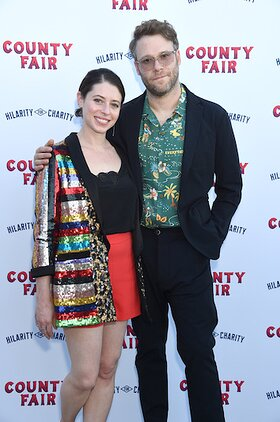 Lauren Miller Rogen and Seth Rogen attend Hilarity For Charity's County Fair