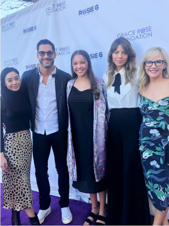 The Cast of Lucifer attends the Grace Rose Foundation Fashion Show Fundraiser