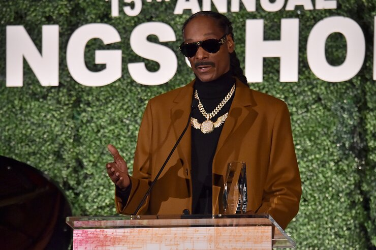 Snoop Dogg accepts an award onstage during City of Hope: 15th Annual Songs of Hope