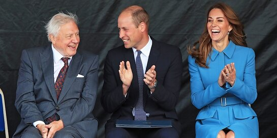 Duke and Duchess of Cambridge With David Attenborough