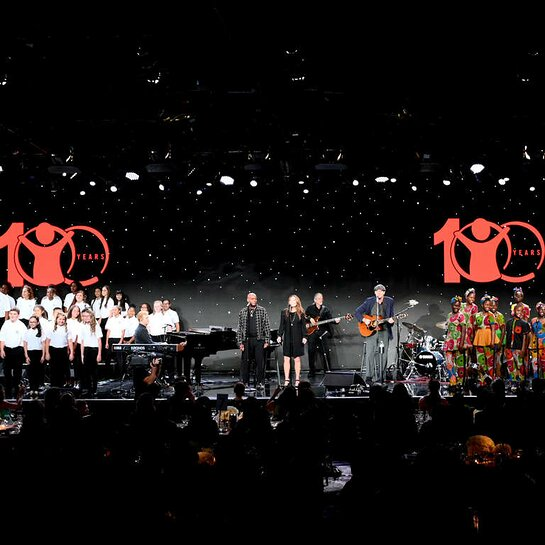 James Taylor performs at Save the Children's Centennial Celebration