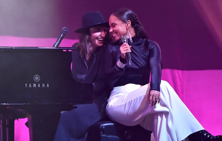 Alicia Keys and Sara Bareilles