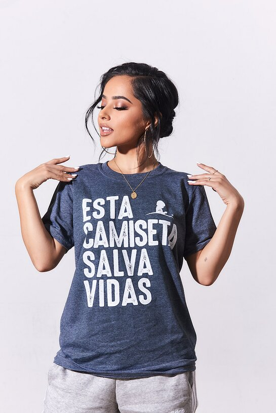 Becky G Models New Shirt