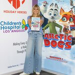 Heidi Klum Brings Arctic Dogs Movie Preview to Children's Hospital Los Angeles