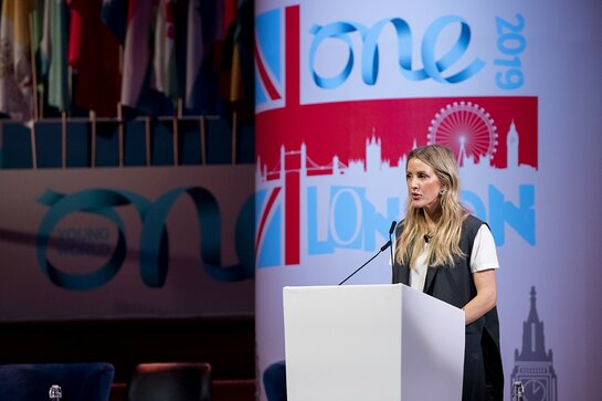 Ellie Goulding Speaks at One Young World Summit in London