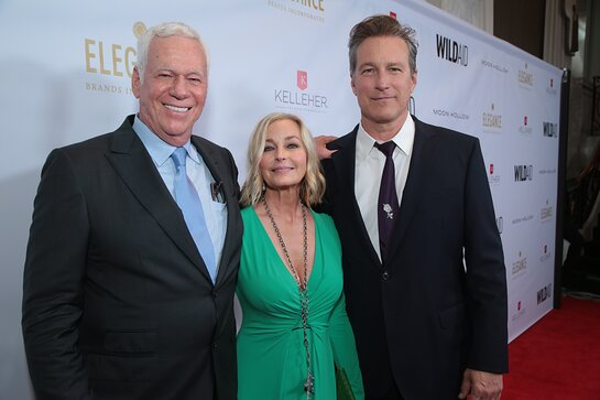 "Fiddi Angermeyer, Bo Derek and John Corbett at WildAid's ""A Night in Africa""."