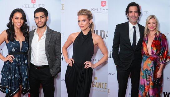 Naomi Scott and Mena Massoud; Annalynne McCord; Carter Oosterhouse and Amy Smart at the 2019 WildAid Gala.