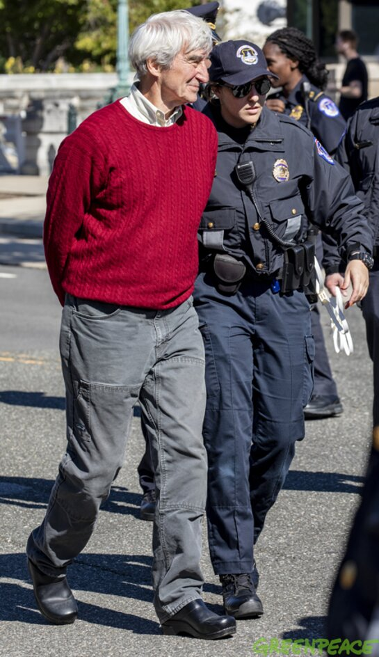 Sam Waterston was arrested during a Fire Drill Friday event.