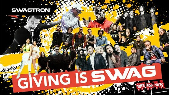 Musician and athletes support Toys for Tots with SWAGTRON.