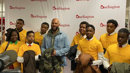 Common and teens from his foundation support their local community.