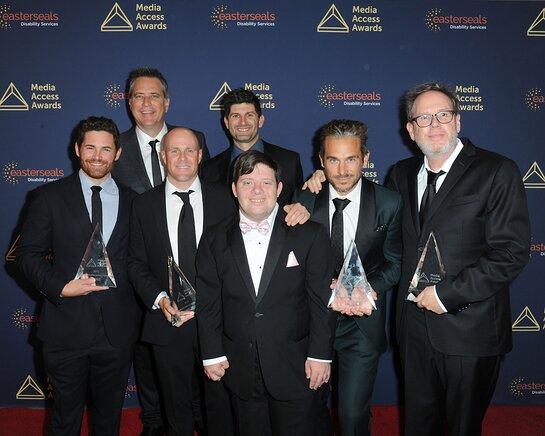 The Peanut Butter Falcon Cast, Tim Zajaros, David Thies, Christopher Lemole, Guest, Zack Gottsagen, Lije Sarki and Albert Berger, Media Access Awards.