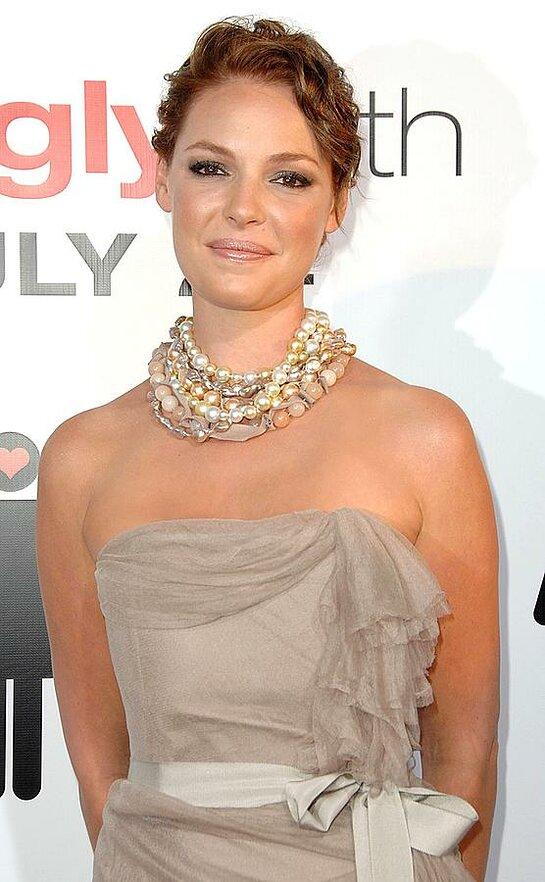 Katherine Heigl wearing a Joan Hornig necklace.