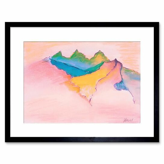 Himalayan Landscape, watercolor by Jerry Garcia