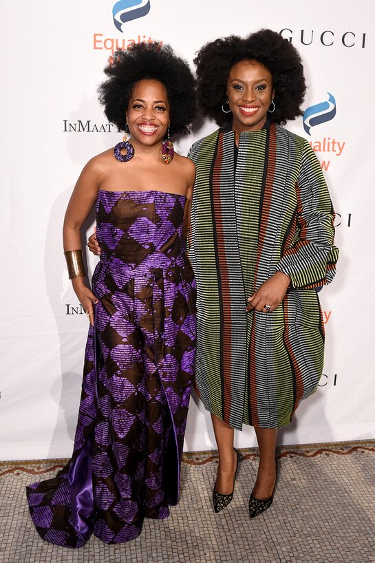 Rhonda Ross Kendrick and Chimamanda Ngozi Adichie attend the annual Make Equality Reality Gala hosted by Equality Now on November 19, 2019