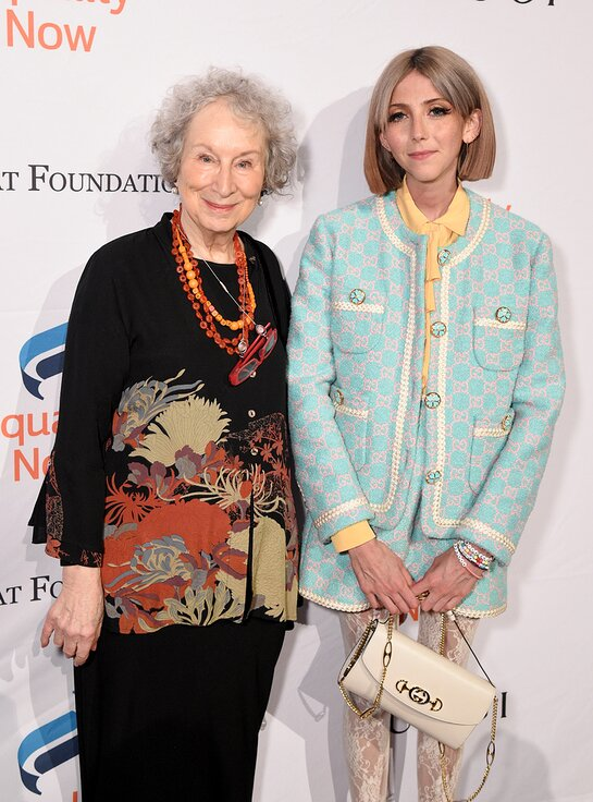 Margaret Atwood and Scarlett Curtis attend the annual Make Equality Reality Gala hosted by Equality Now on November 19, 2019