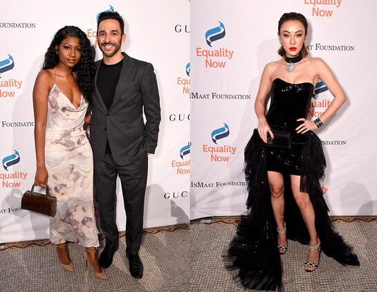 Ornella Suad and Amir Arison, and Jessica Wang attend the annual Make Equality Reality Gala hosted by Equality Now on November 19, 2019