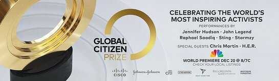 Global Citizen strives to end world poverty by 2030.
