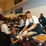Houston Rockets Russell Westbrook and James Harden Serve Up Thanksgiving Dinners in Los Angeles