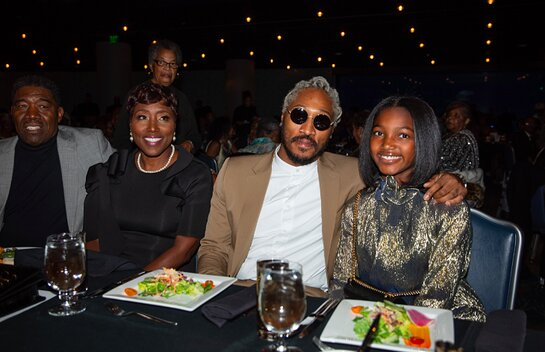 Future with family - from left Eddie Jester, Stephanie Jester (Mother) and daughter Londyn.