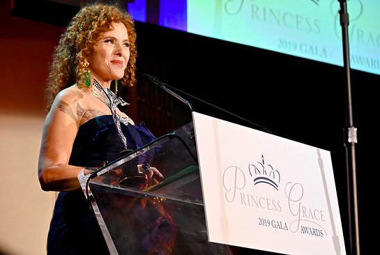 Bernadette Peters accepts the 2019 Prince Ranier III Award