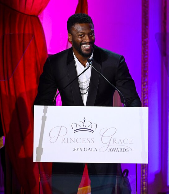 Aldis Hodge at the 2019 Princess Grace Awards Gala