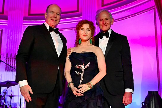 His Serene Highness Prince Albert II of Monaco, Bernadette Peters and Victor Garner