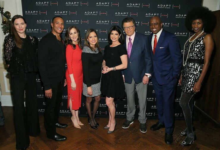 Jill Flint with Celebrity Ambassadors Mike Woods, Teresa Priolo, Ines Rosales, Tamsen Fadal, Mr. G, Kori Chambers, and Camilla Barungi