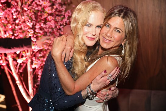 Nicole Kidman and Jennifer Aniston attend the SAG Awards Post-Awards Gala