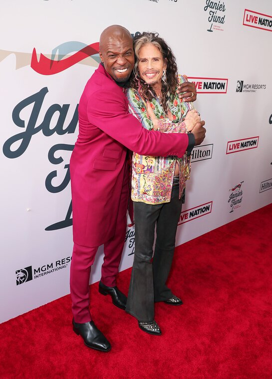 Terry Crews and Steven Tyler arrive at Steven Tyler's Third Annual Grammy Awards Viewing Party