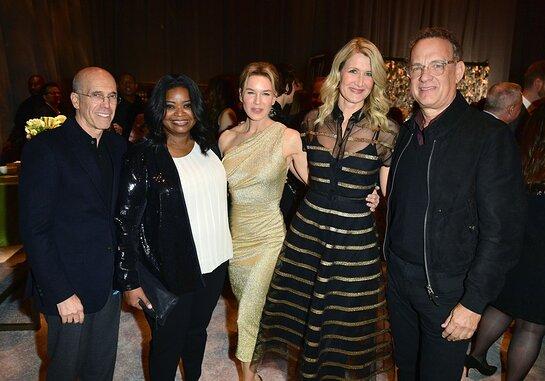 Jeffrey Katzenberg, Octavia Spencer, Renee Zellweger, Tom Hanks