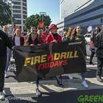 Fire Drill Fridays Activists Occupy Downtown LA Fossil Fuel HQ