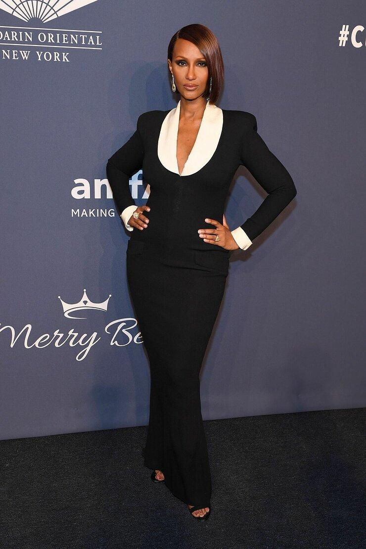 Iman Attends amfAR Gala New York