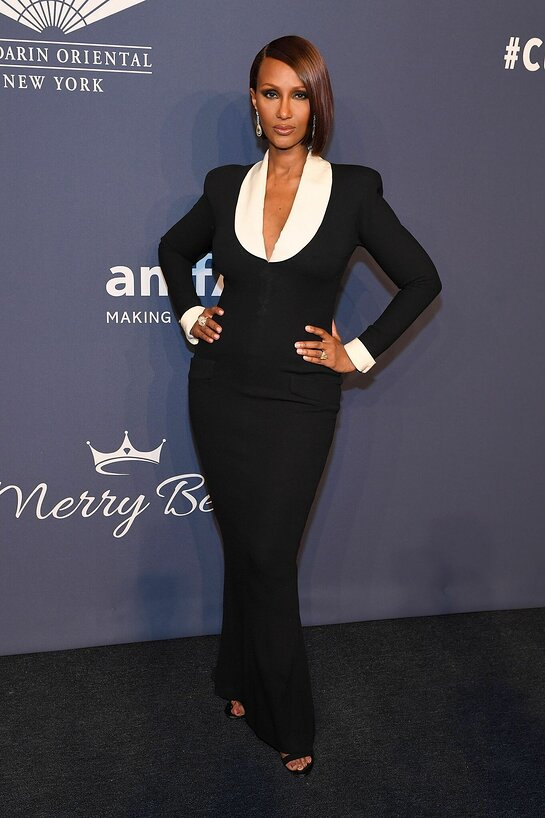 Iman Attends amfAR Gala New York
