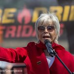 Jane Fonda and Greenpeace Bring Fire Drill Fridays to Climate Impact Zone