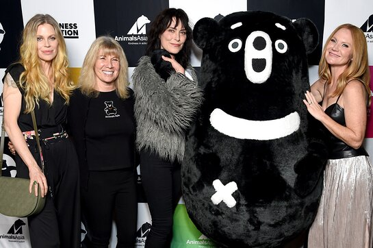 Kristin Bauer, Jill Robinson, founder of Animals Asia, Michelle Forbes and Tara Buck attend Animals Asia: Kindness in Action