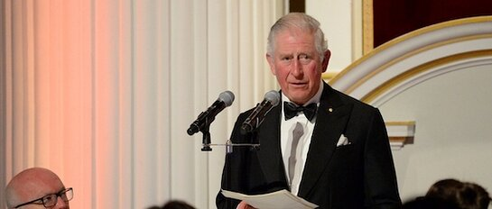 The Prince of Wales attends a dinner in support of the Australian Bushfires Appeal