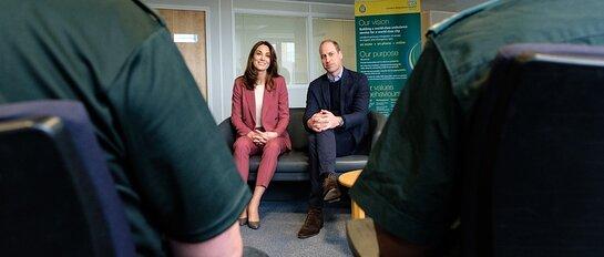 The Duke and Duchess of Cambridge visit the London Ambulance Centre in Croydon