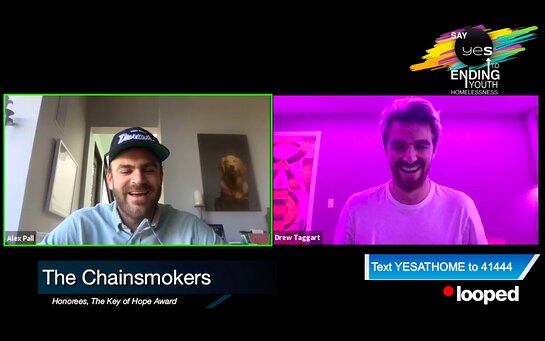 The Chainsmokers lended their support to YES AT HOME's virtual gala.