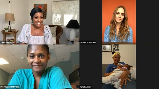 The Motherhood Juggle: Motherhood Maternity, the USO and Tamron Hall offer community and conversation for military moms worldwide