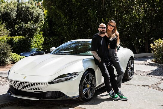 Maroon 5's Adam Levine and wife Behati Prinsloo join forces with Ferrari to benefit Save the Children