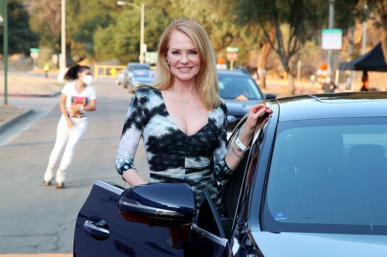 Marg Helgenberger Attends 27th Race To Erase MS Drive-In