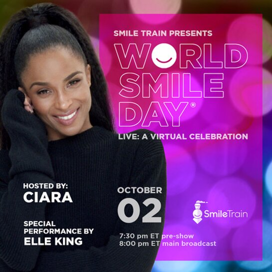 Ciara to host Smile Train's World Smile Day